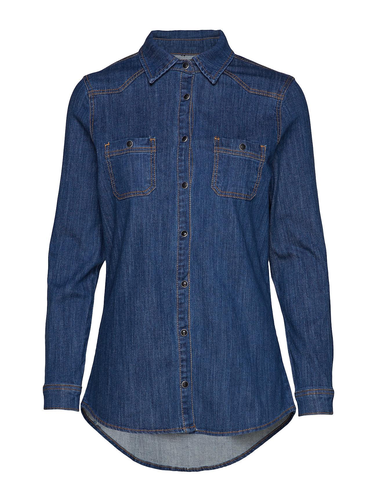 Light Denimdark Dhfortuna WashHunter Shirt 0k8wnPO