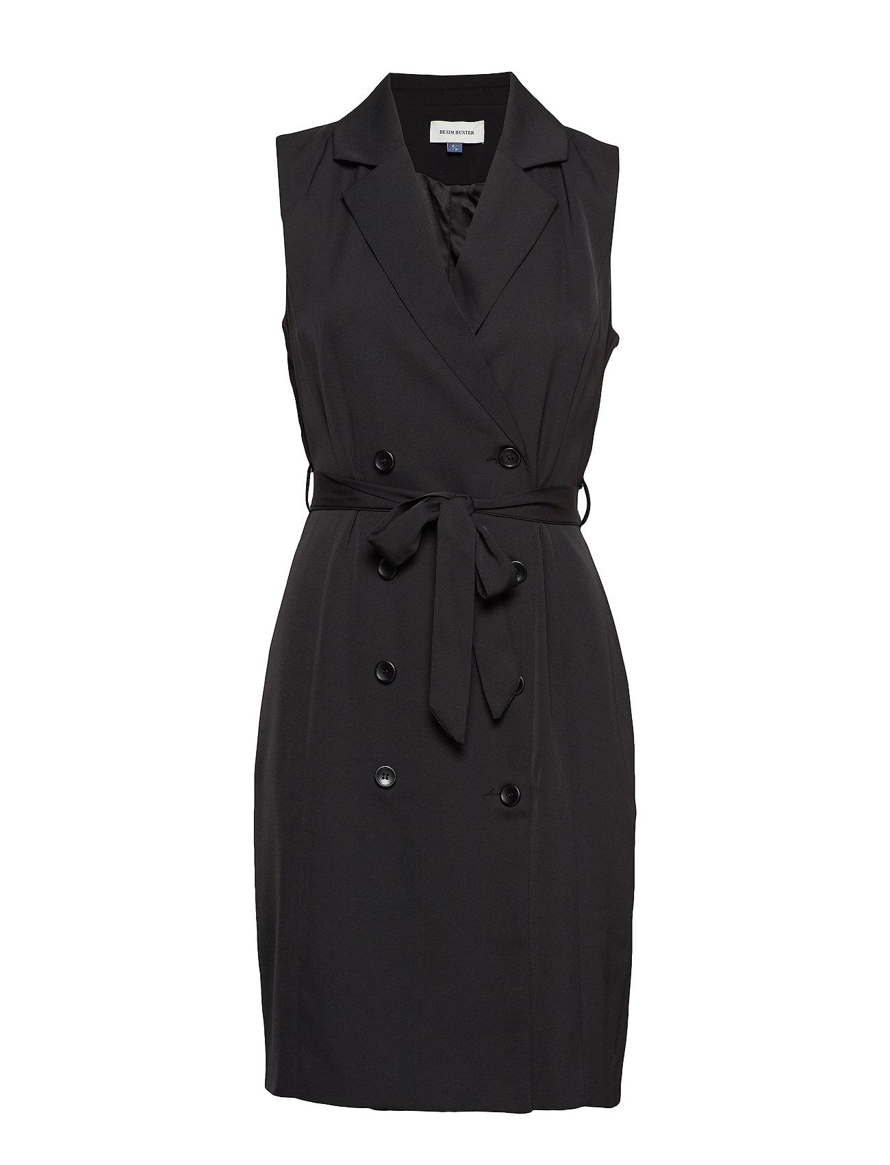 Denim Hunter DHDia Waist Coat Dress Woven - BLACK