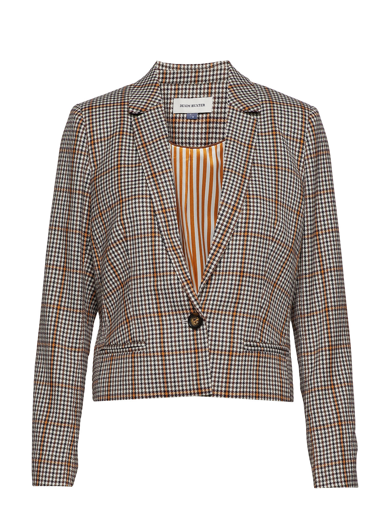 Image of Dhcolombia Blazer Checked Blazer Multi/mønstret Denim Hunter (3489510631)