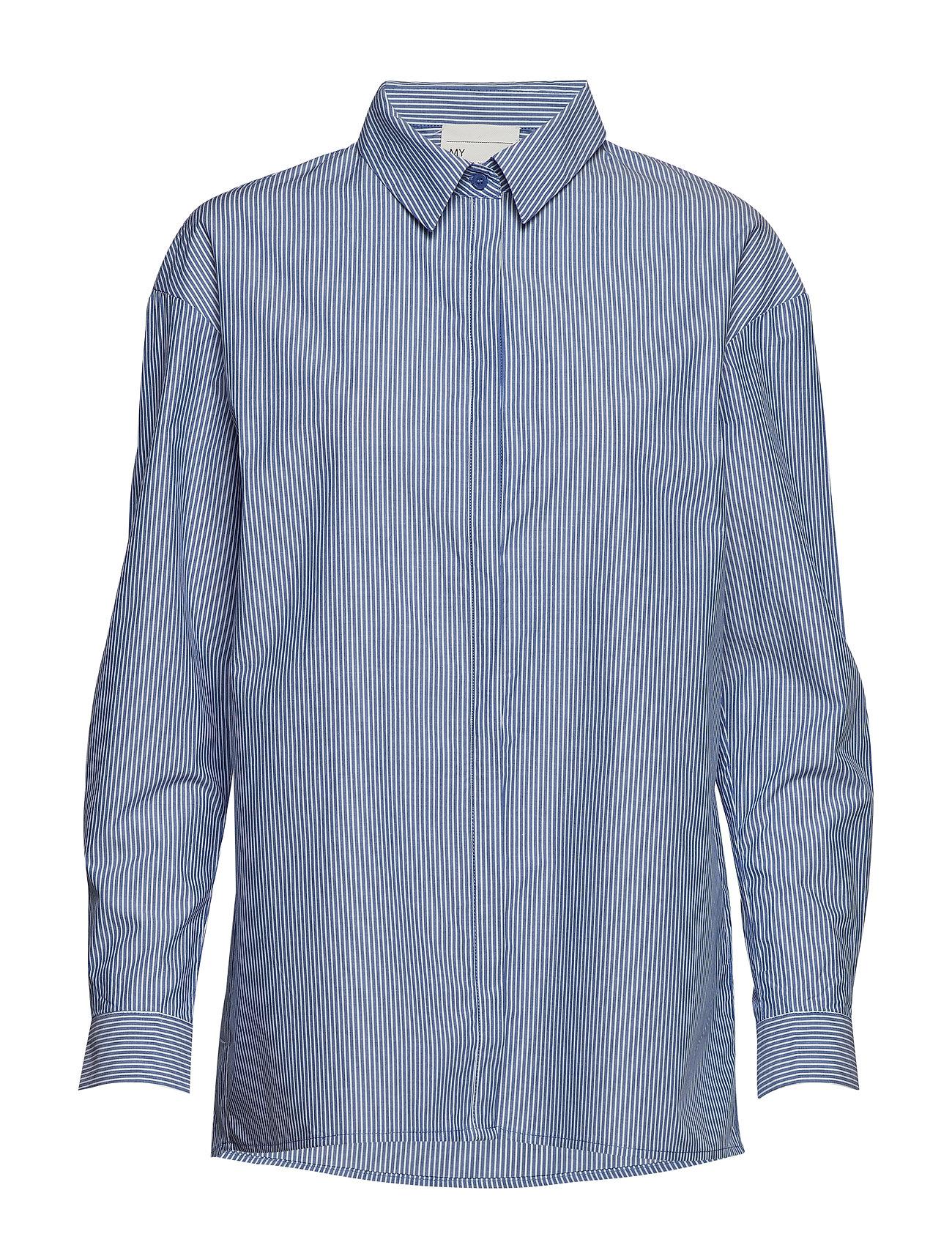 03 The Shirt Pitkähihainen Paita Sininen Denim Hunter