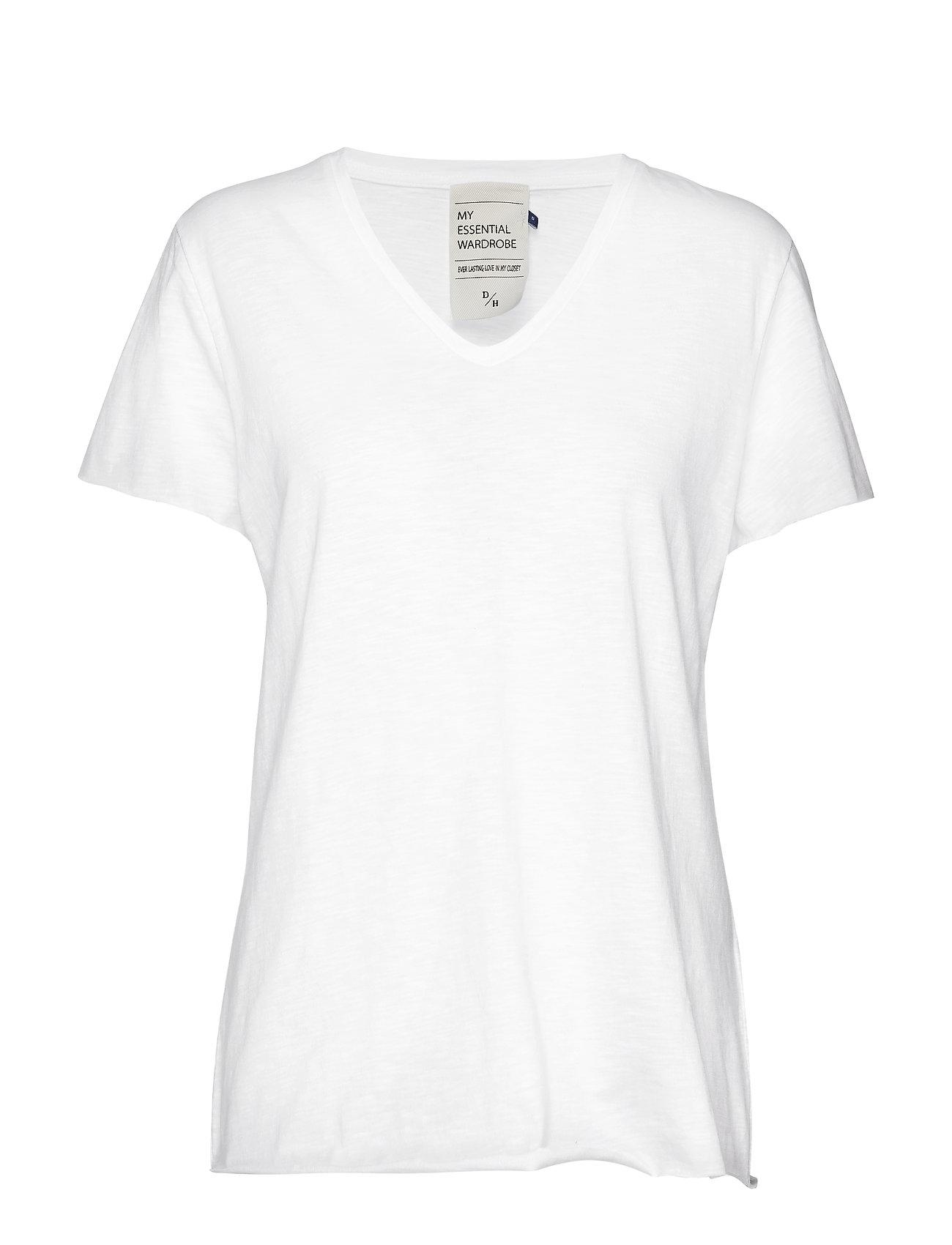 08 The Vtee Slub Yarn Jersey T-shirts & Tops Short-sleeved Valkoinen Denim Hunter