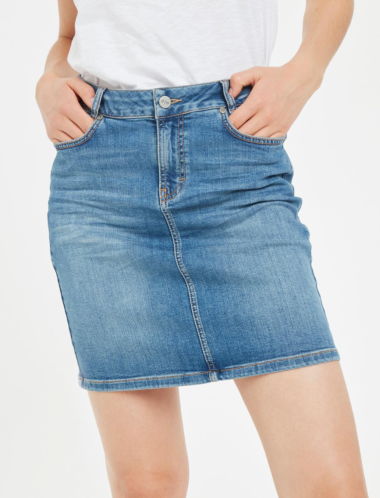 Denim Hunter - 12 THE DENIM SKIRT - jeanskjolar - light blue vintage wash - 0