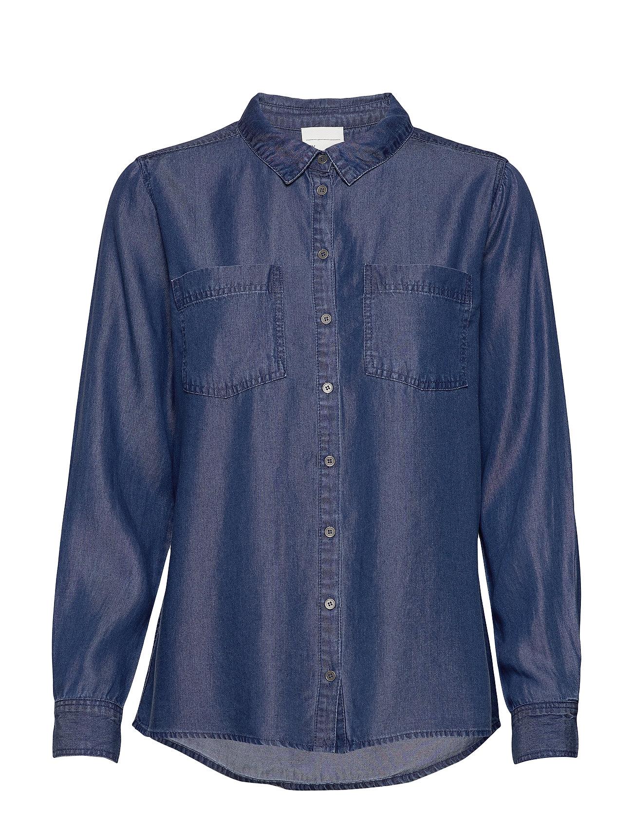 15 The Denim Shirt Pitkähihainen Paita Sininen Denim Hunter