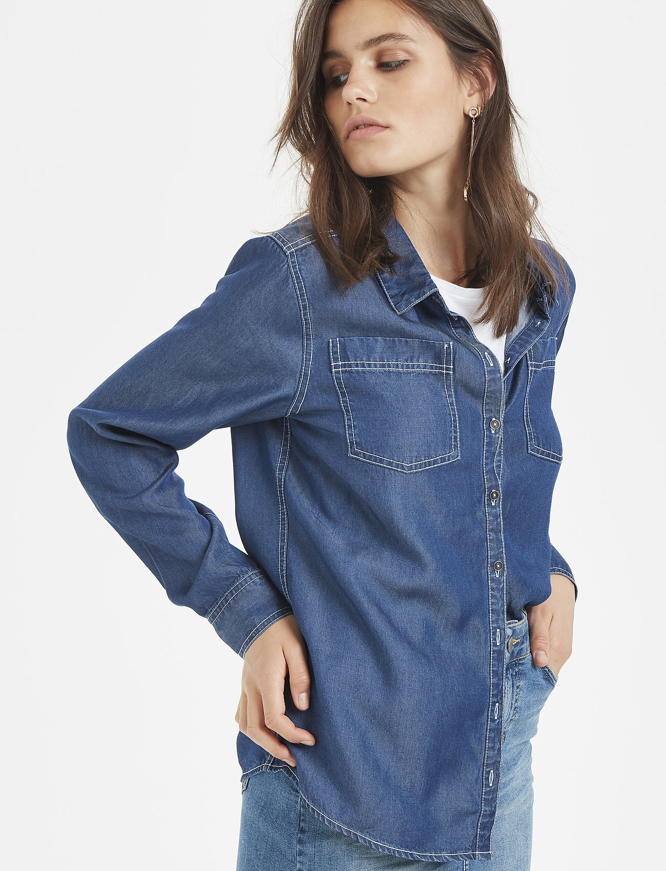 Denim Hunter - 15 THE DENIM SHIRT - jeansskjortor - denim blue - 0