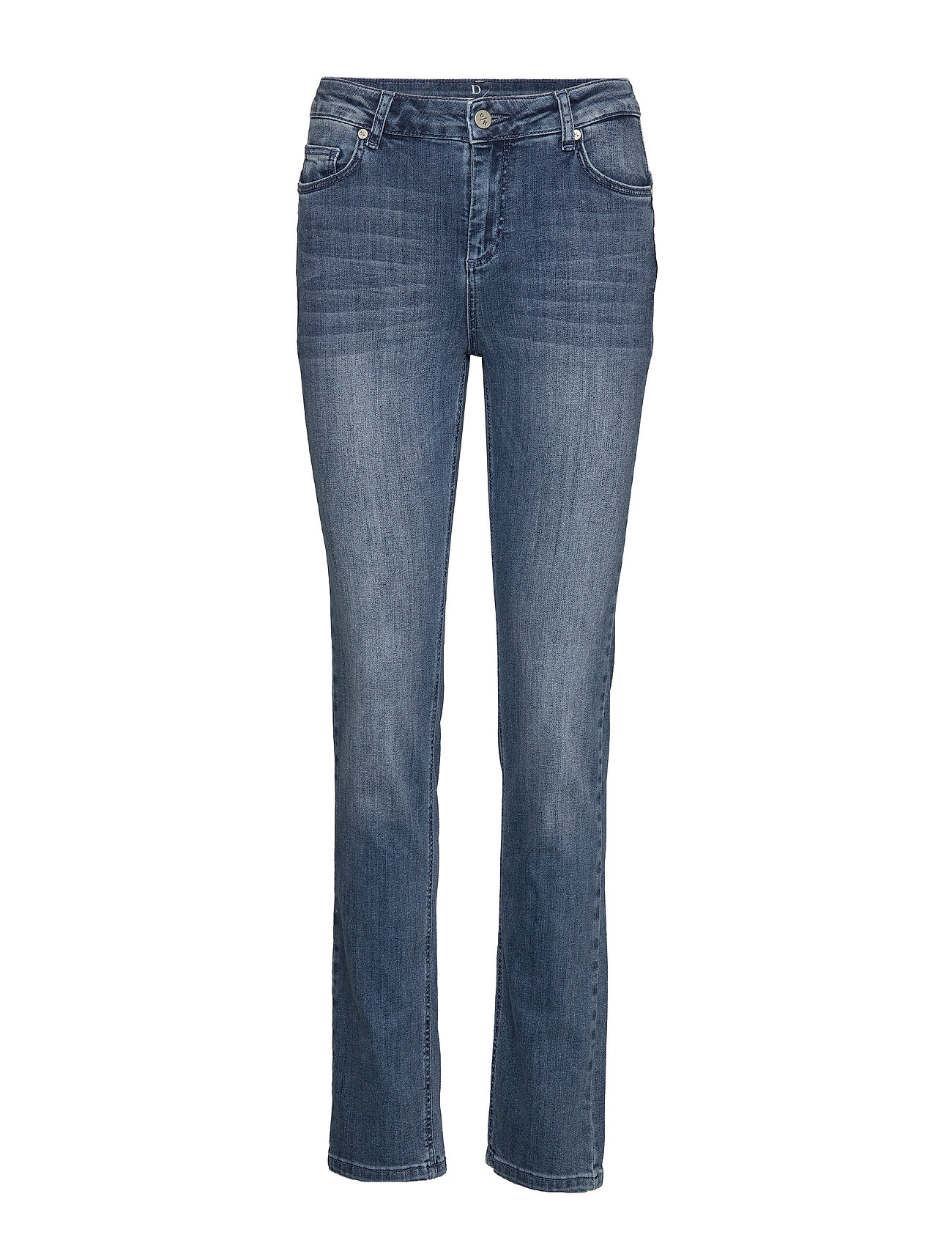 Denim Hunter 33 THE CELINA HIGH STRAIGHT CUSTOM - MEDIUM BLUE VINTAGE WASH