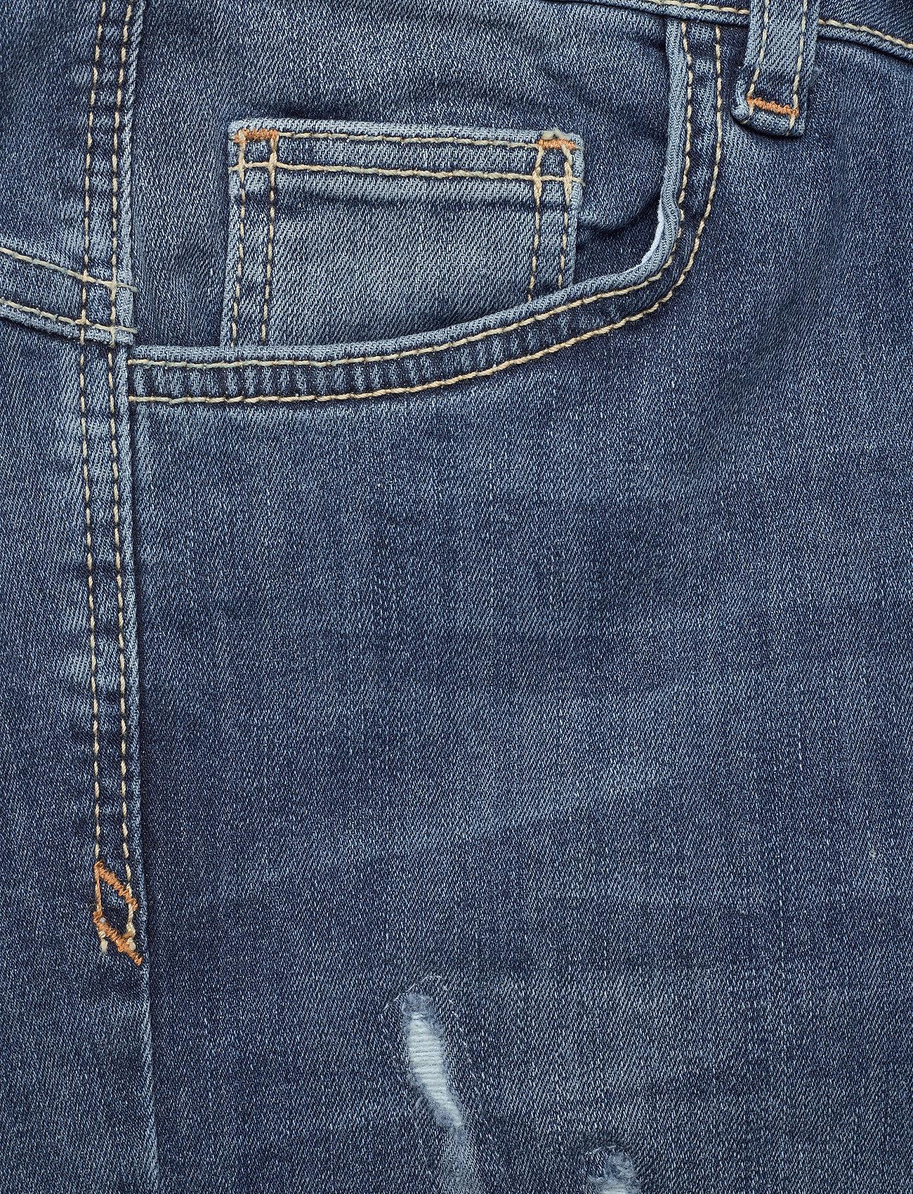 Denim Hunter - 40 THE CELINAZIP TORN CUSTOM - skinny jeans - medium blue vintage wash - 4