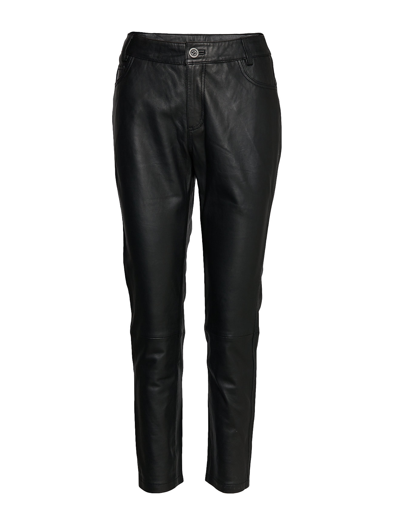 Denim Hunter 24 THE LEATHER PANT - BLACK