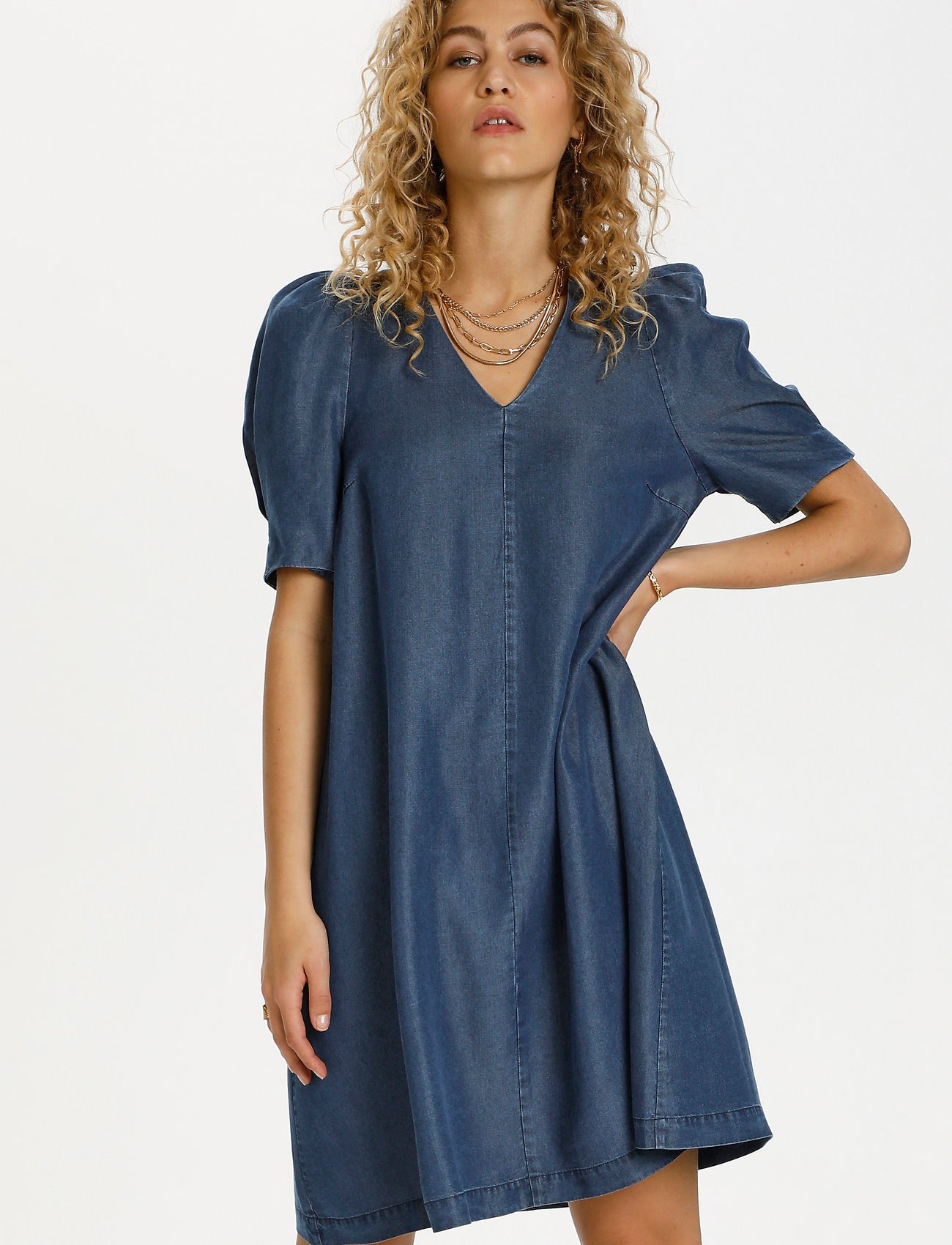 Denim Hunter - DHLouisa Dress - sommarklänningar - dark blue wash - 0
