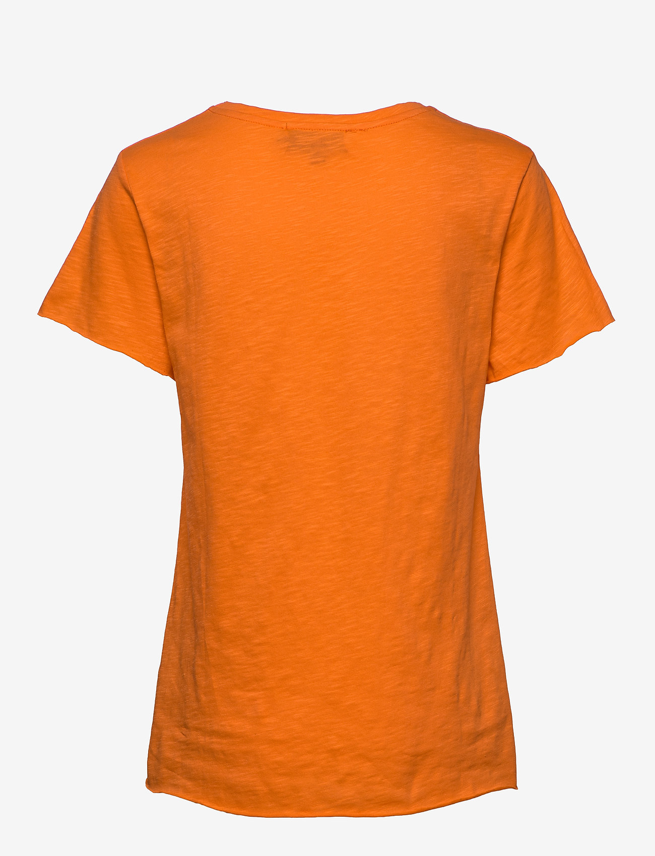 Denim Hunter - DHLuz O Neck Tee Slub Yarn Jersey - basic t-shirts - orange clown fish