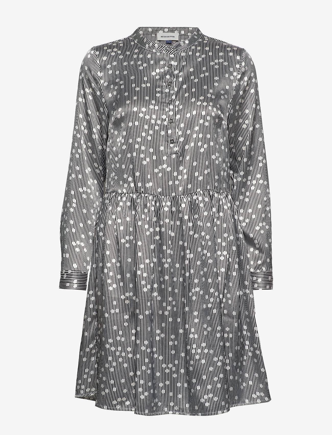 Denim Hunter Dhilma Dress Light Woven - Klänningar Black Print