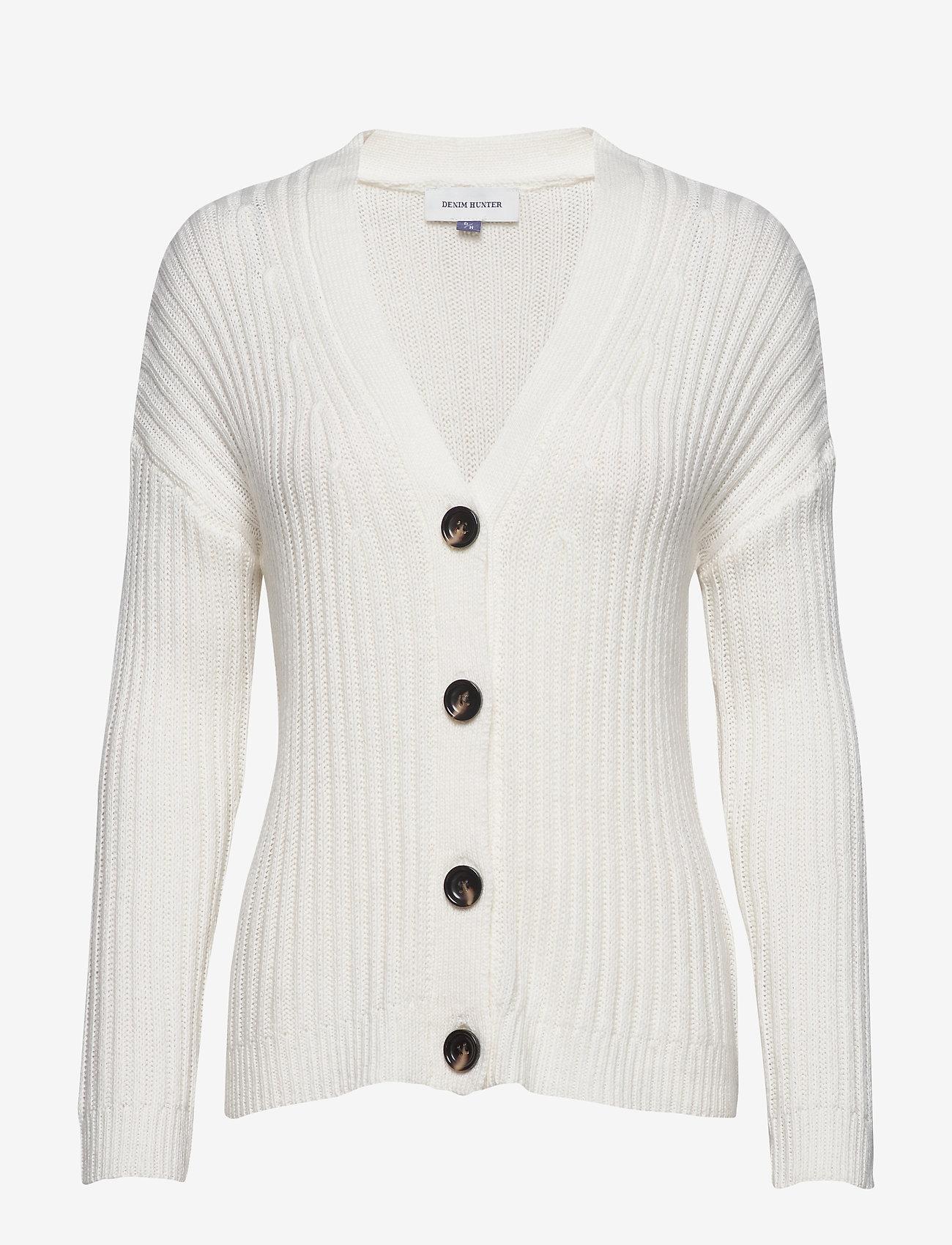 Denim Hunter - DHOlive Knit Cardigan - neuletakit - whisper white