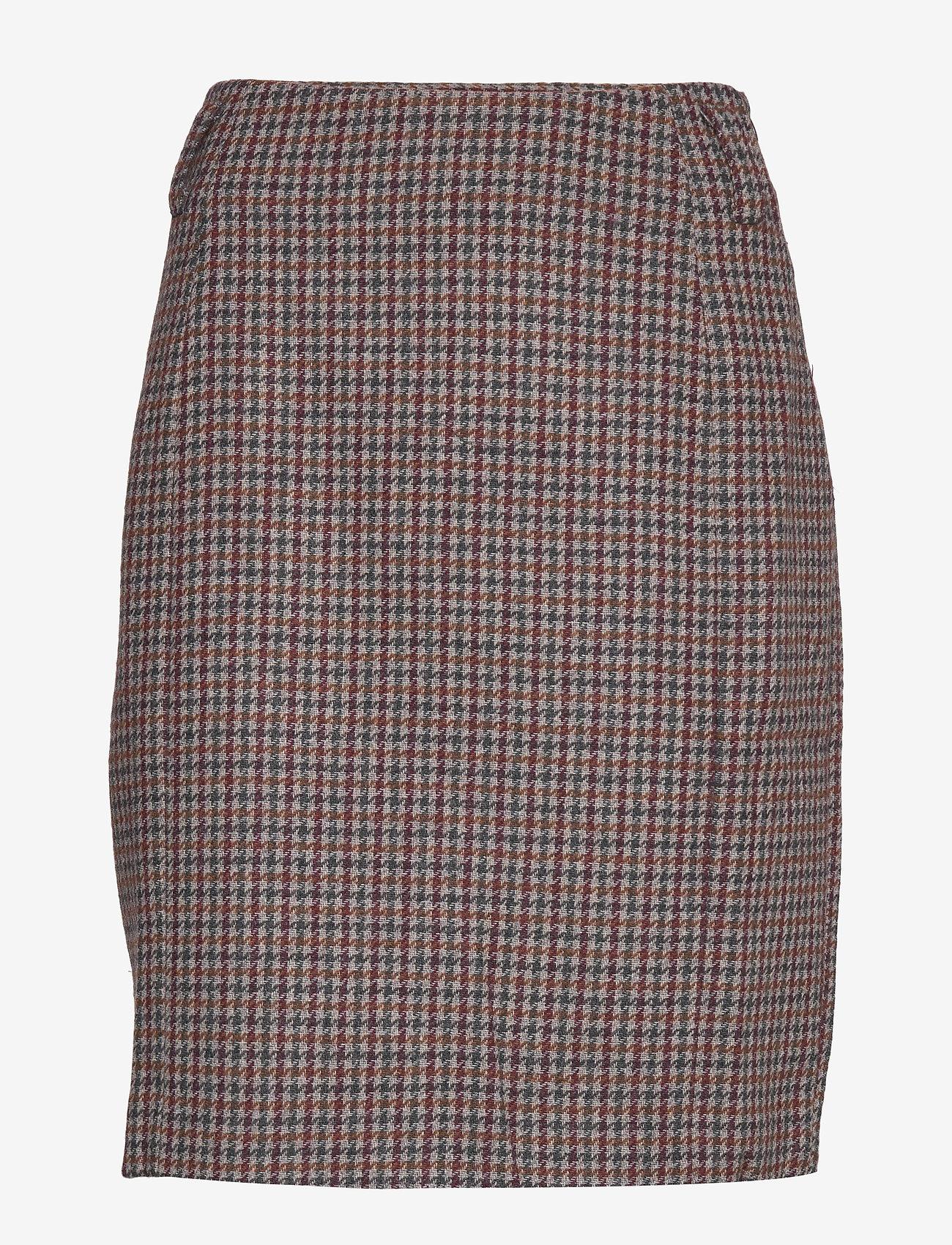 Dhharper Skirt (Vineyard Wine Checked) - Denim Hunter ZKn7m0