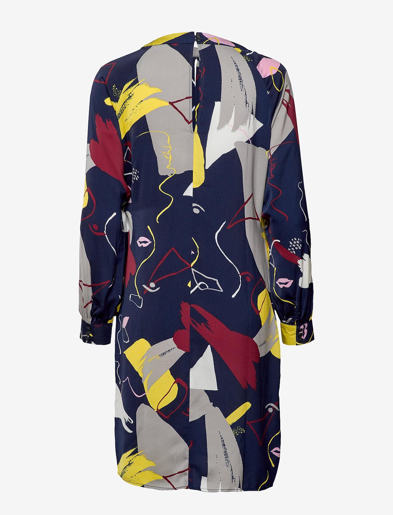 Denim Hunter - DHFace Short Dress - midimekot - black iris print