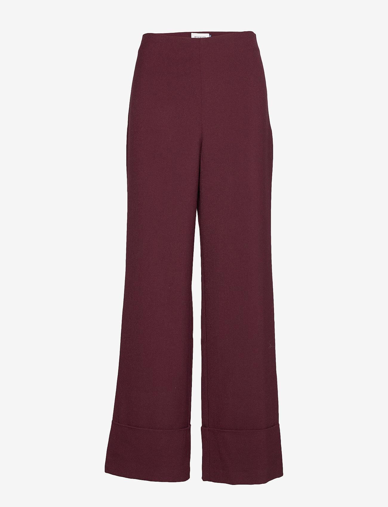Denim Hunter - DHEllo Pants - bukser med brede ben - vineyard wine - 0