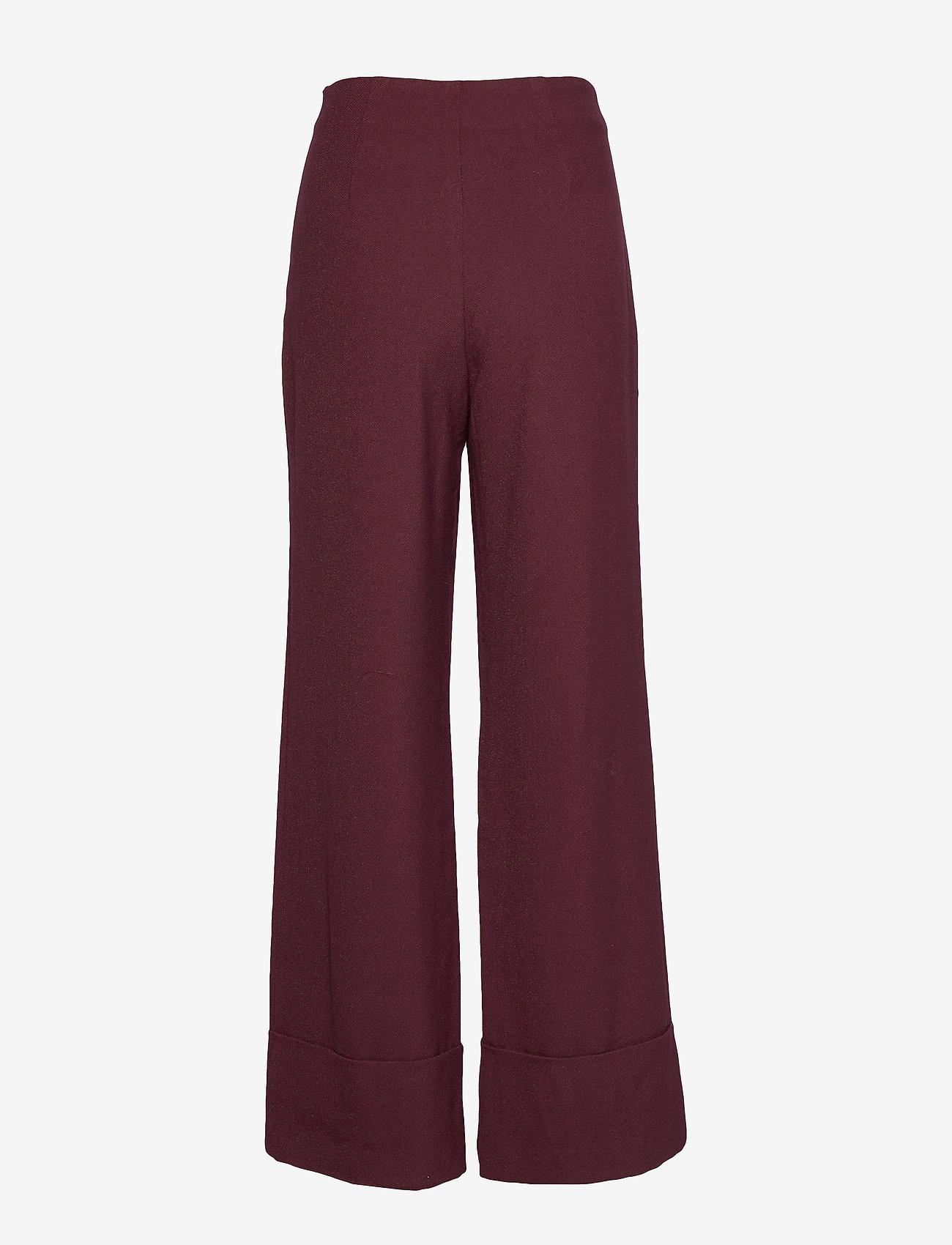 Denim Hunter - DHEllo Pants - bukser med brede ben - vineyard wine - 1