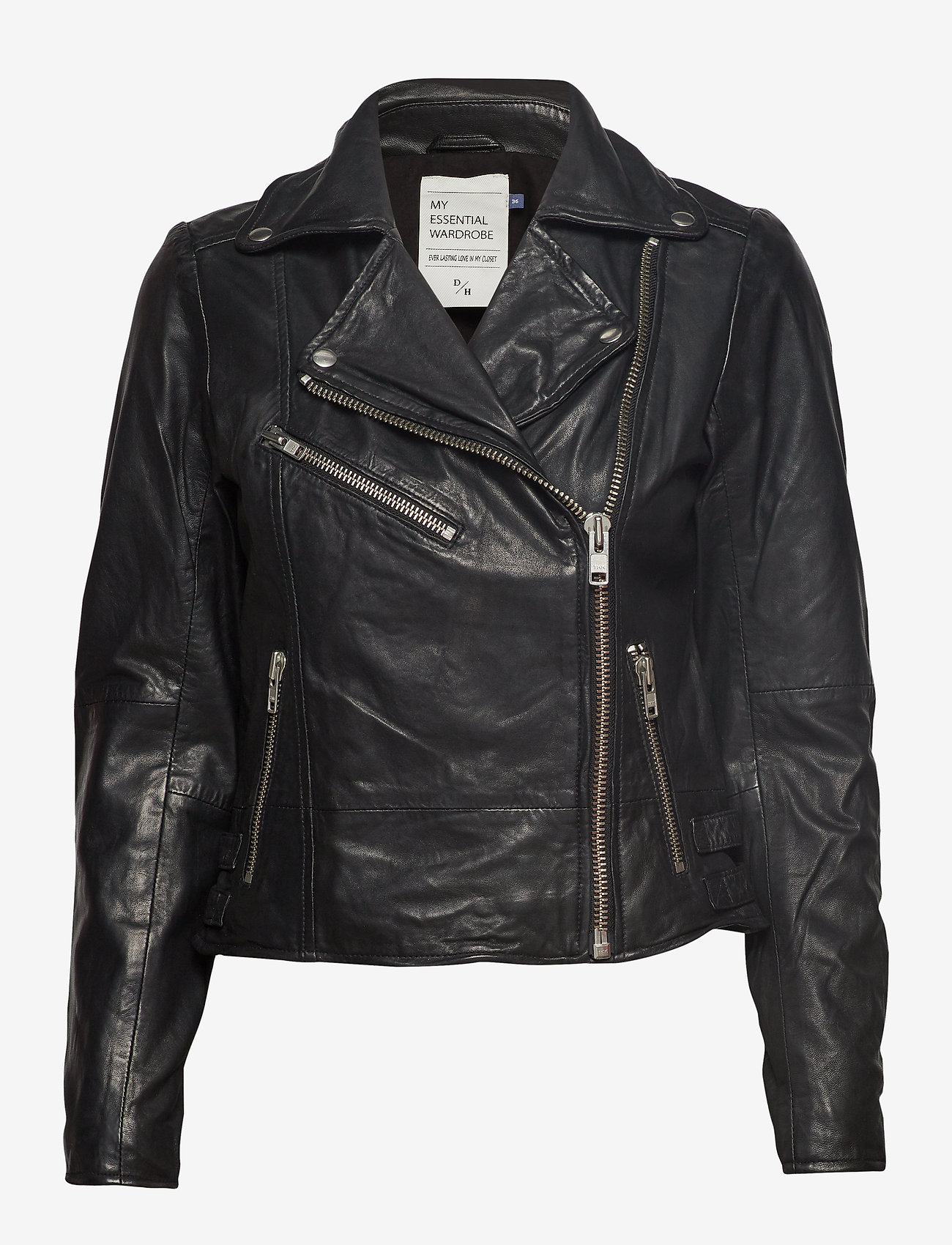 Denim Hunter - 02 THE LEATHER JACKET - skinnjackor - black - 1