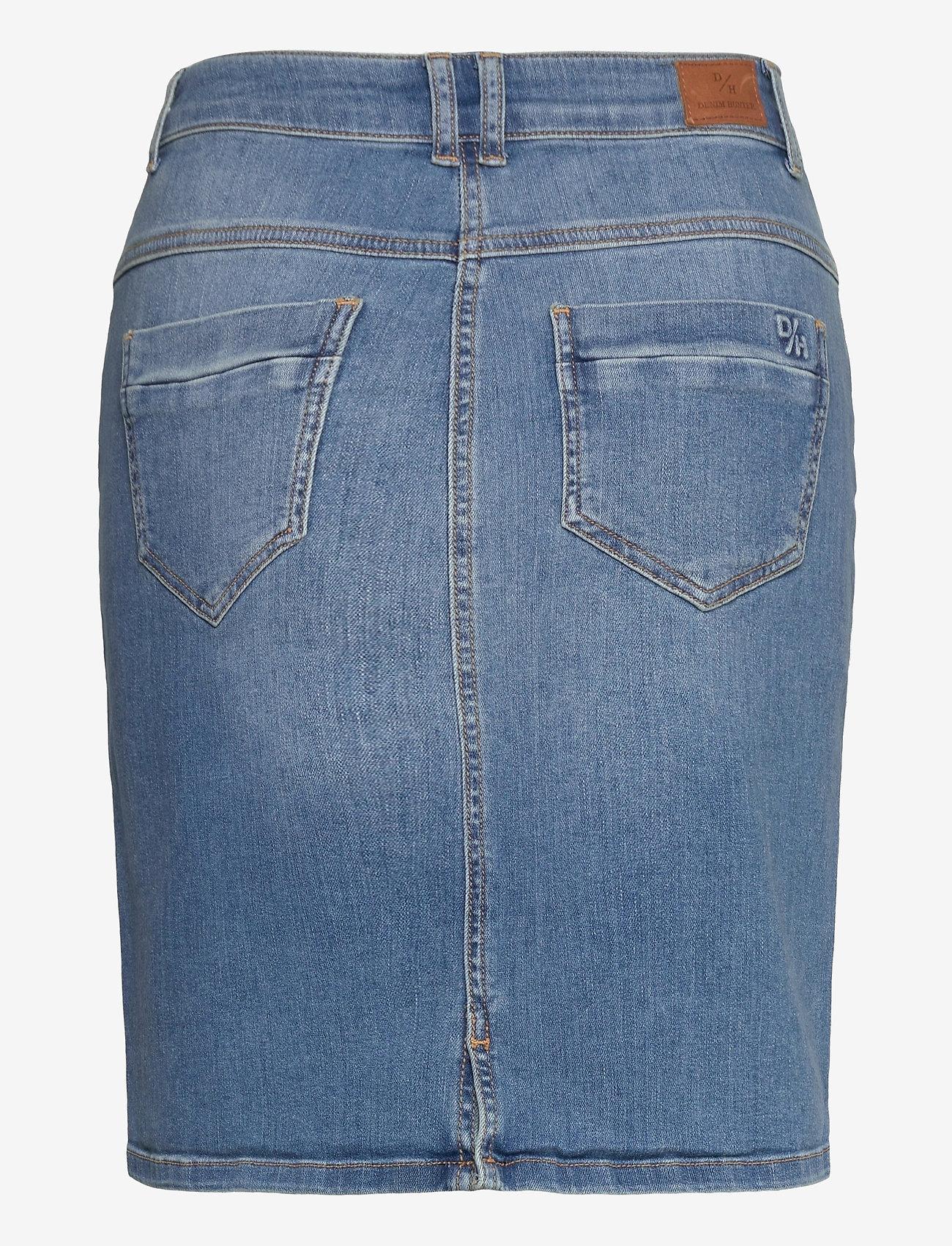 Denim Hunter - 12 THE DENIM SKIRT - jeanskjolar - light blue vintage wash - 1