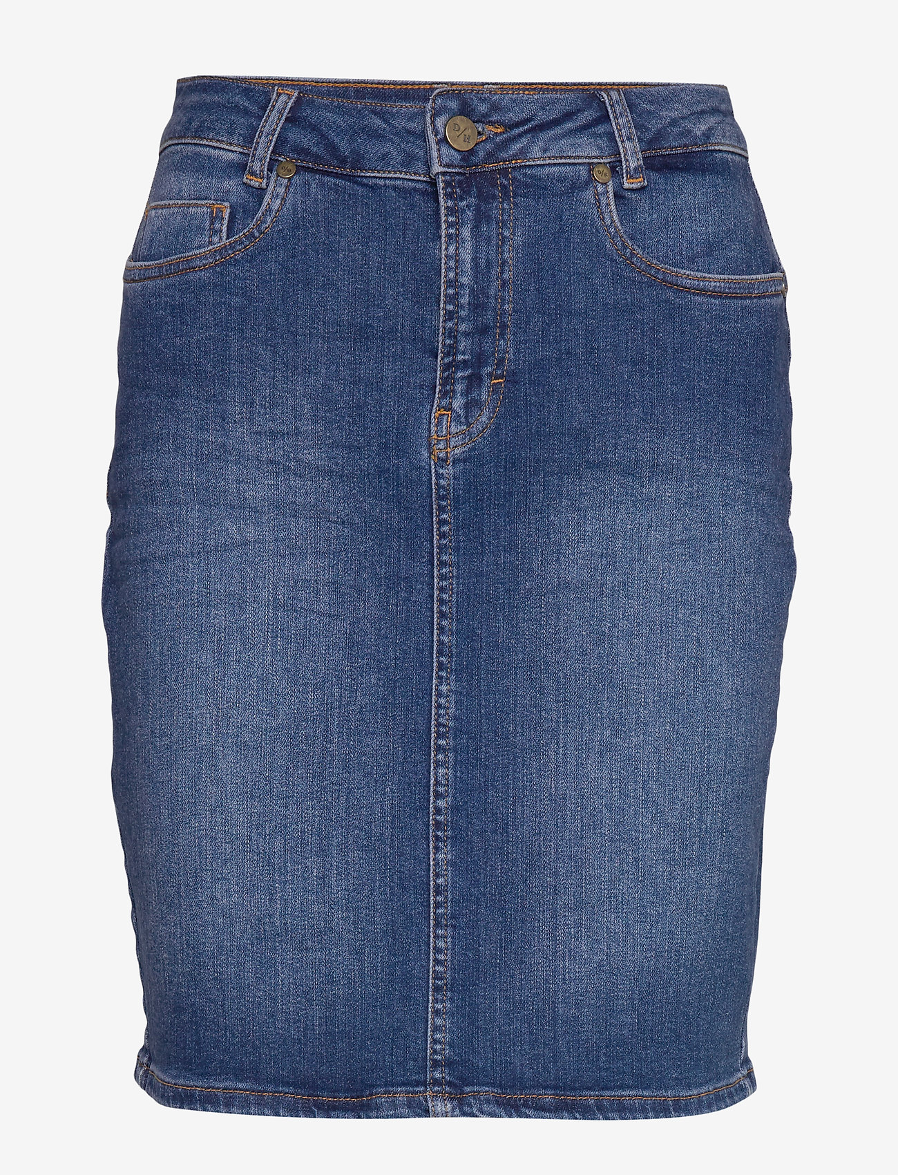 Denim Hunter - 12 THE DENIM SKIRT - jeanskjolar - medium blue wash - 0