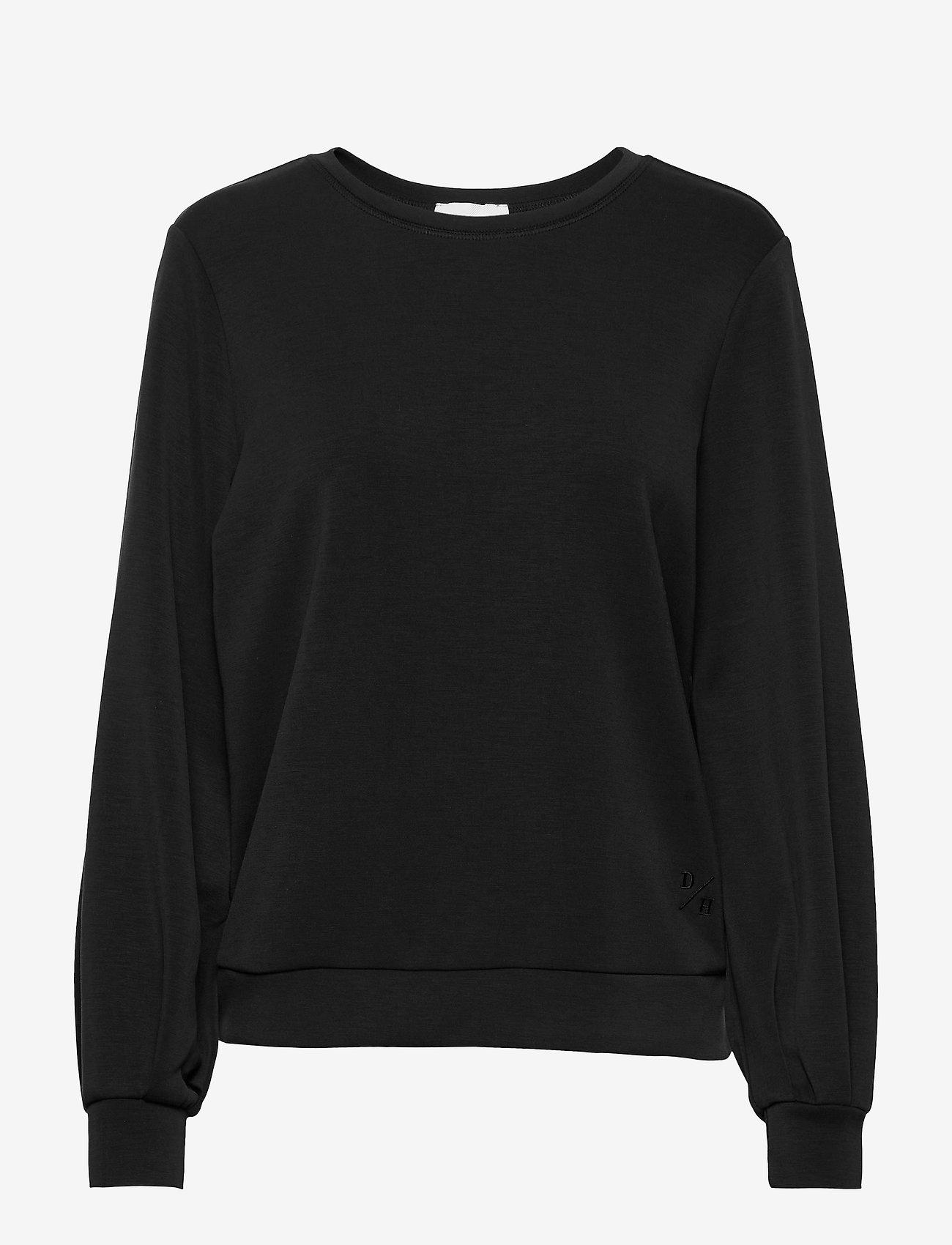 Denim Hunter - 23 THE SWEAT BLOUSE - sweatshirts - black - 0