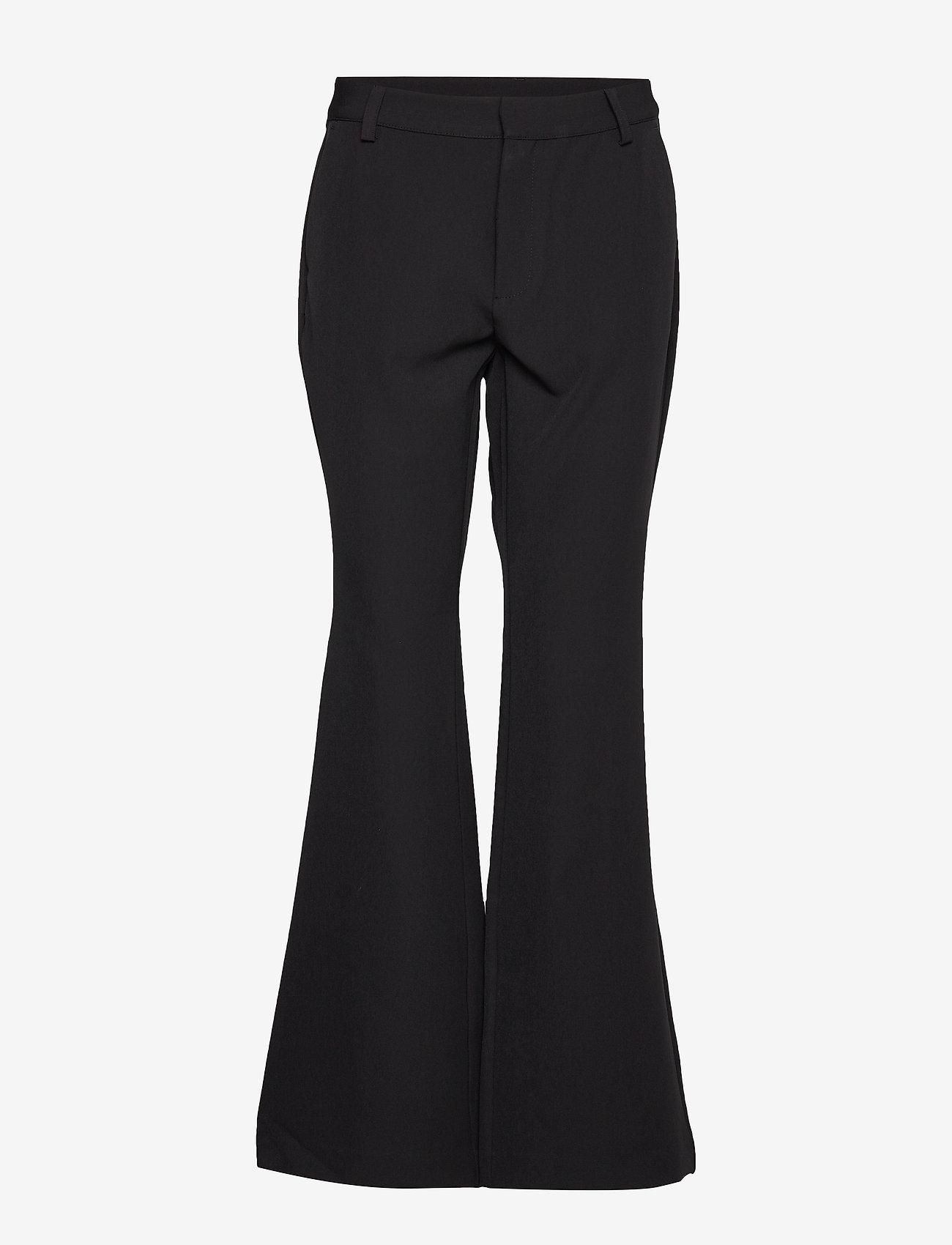 Denim Hunter - 14 THE BLACK FLARED PANT - bukser med brede ben - black - 1
