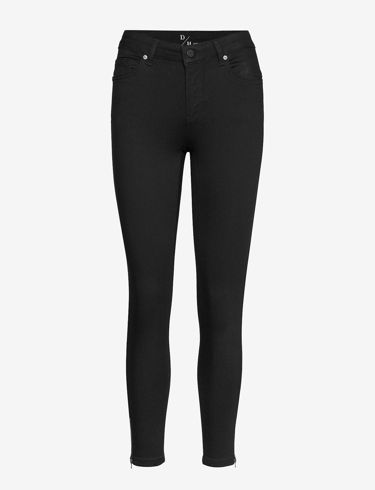 Denim Hunter - 39 THE CELINAZIP BLACK CUSTOM - skinny jeans - black un-wash - 0