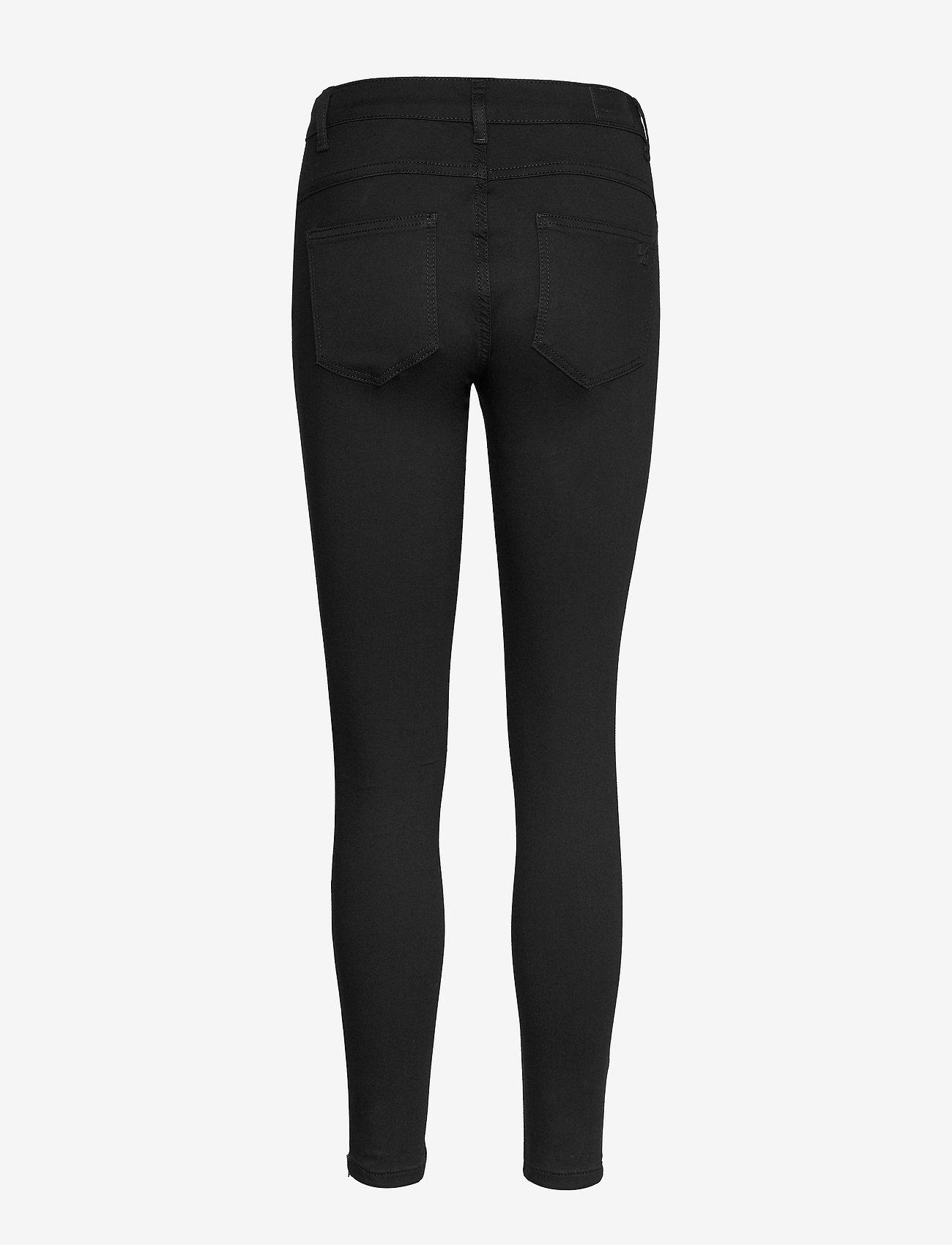 Denim Hunter - 39 THE CELINAZIP BLACK CUSTOM - skinny jeans - black un-wash - 1