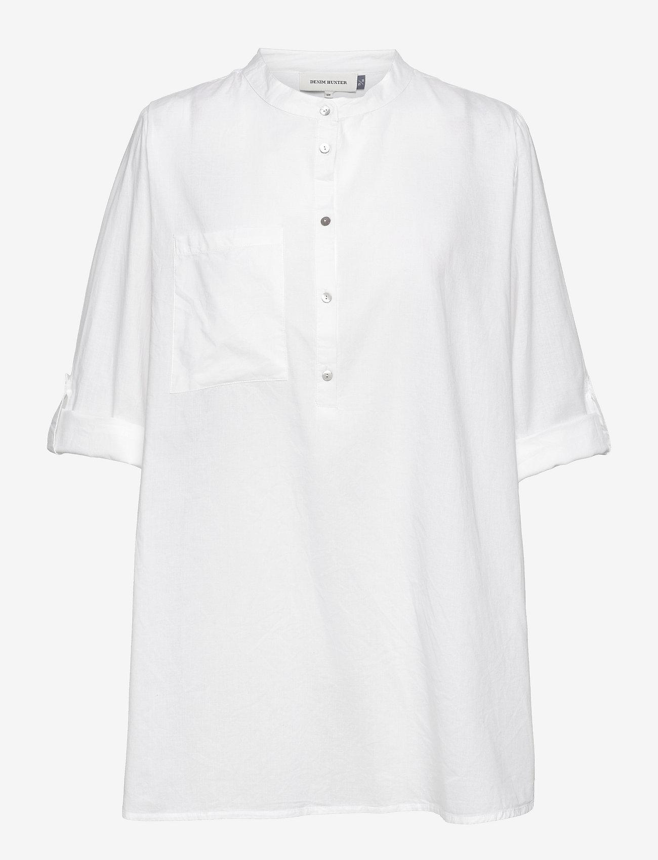 Denim Hunter - DHElba Shirt - långärmade blusar - optical white - 0