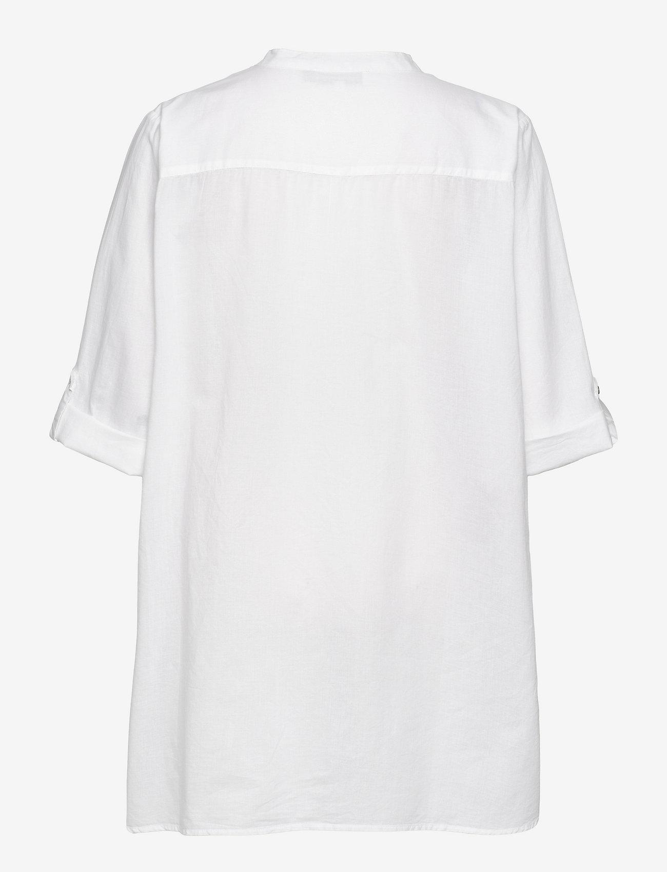 Denim Hunter - DHElba Shirt - långärmade blusar - optical white - 1