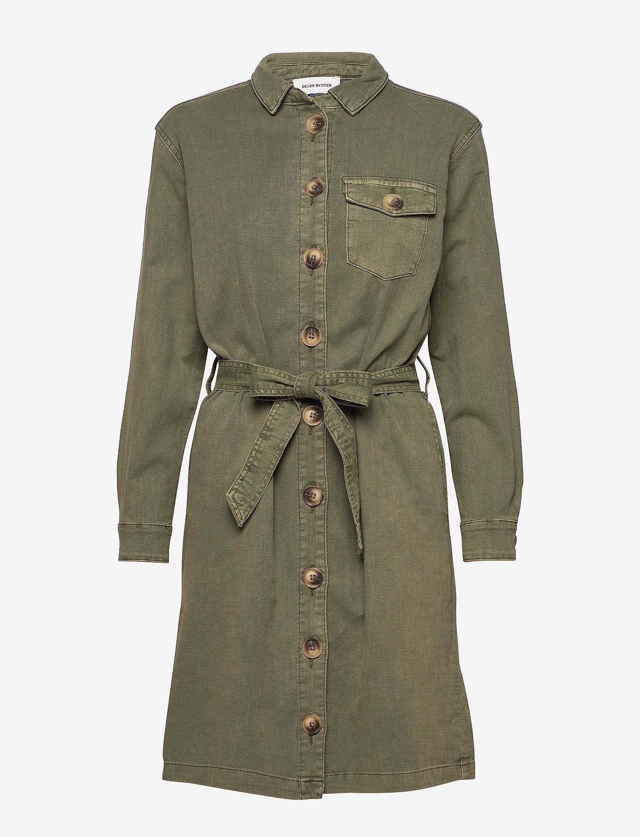 Denim Hunter - DHAlto Shirtdress - shirt dresses - dusty olive - 0