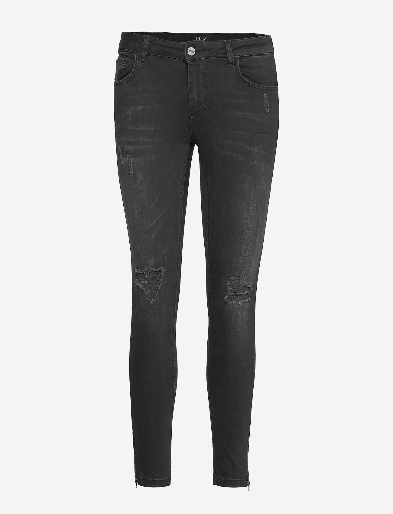 Denim Hunter - 40 THE CELINAZIP TORN CUSTOM - skinny jeans - black wash - 0
