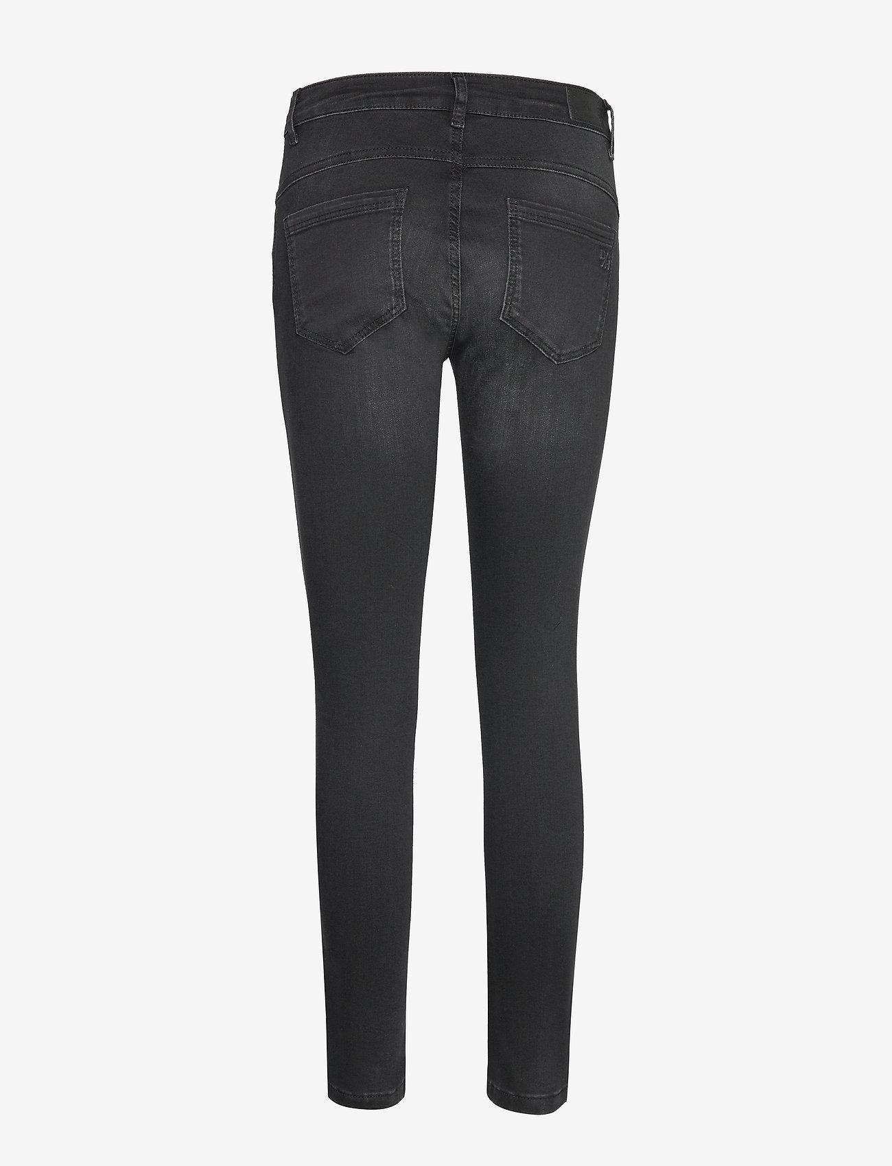 Denim Hunter - 40 THE CELINAZIP TORN CUSTOM - skinny jeans - black wash - 1