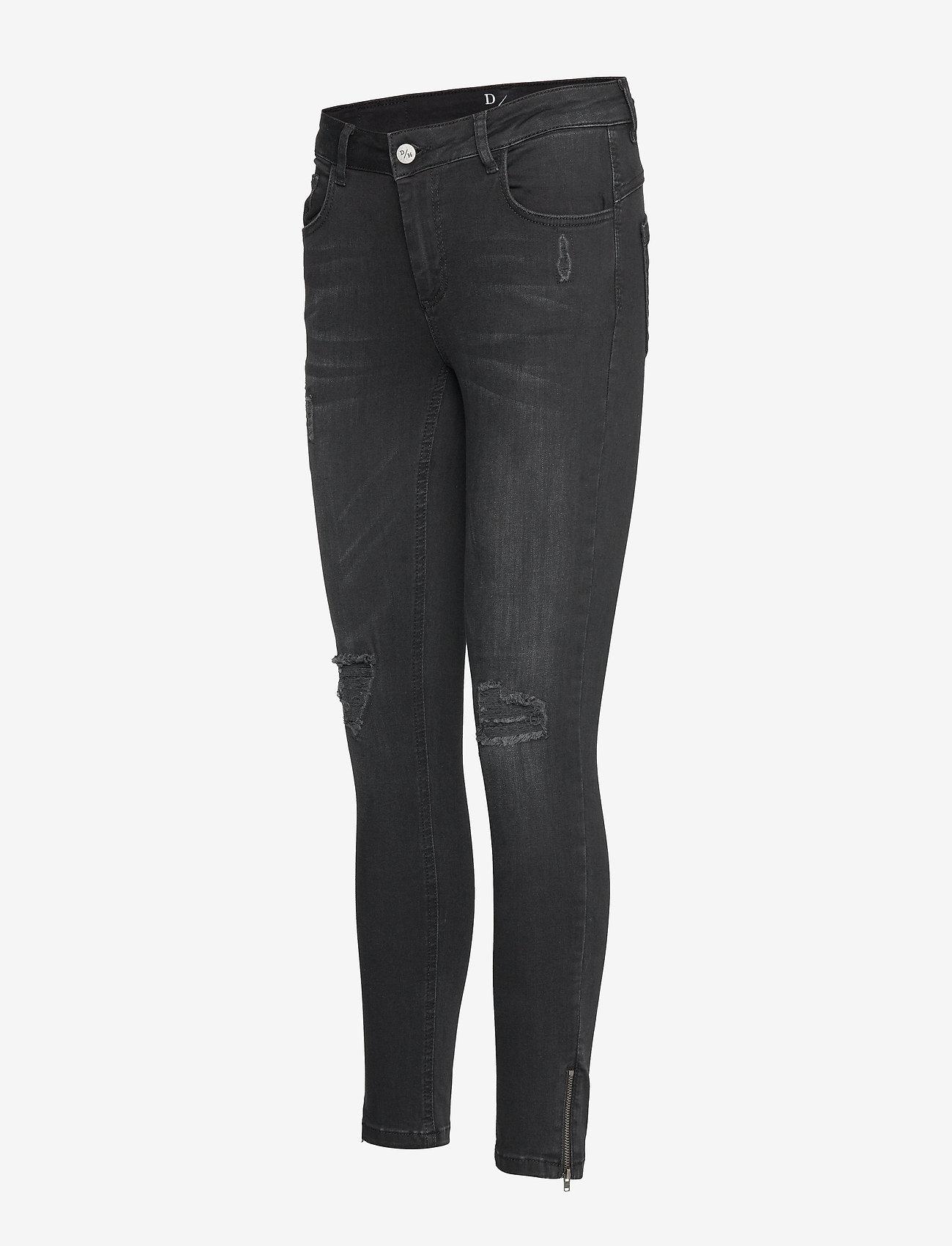 Denim Hunter - 40 THE CELINAZIP TORN CUSTOM - skinny jeans - black wash - 2