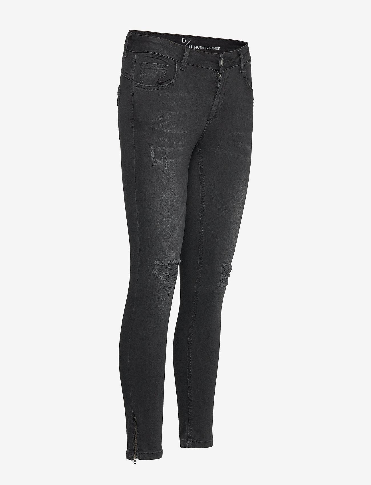 Denim Hunter - 40 THE CELINAZIP TORN CUSTOM - skinny jeans - black wash - 3