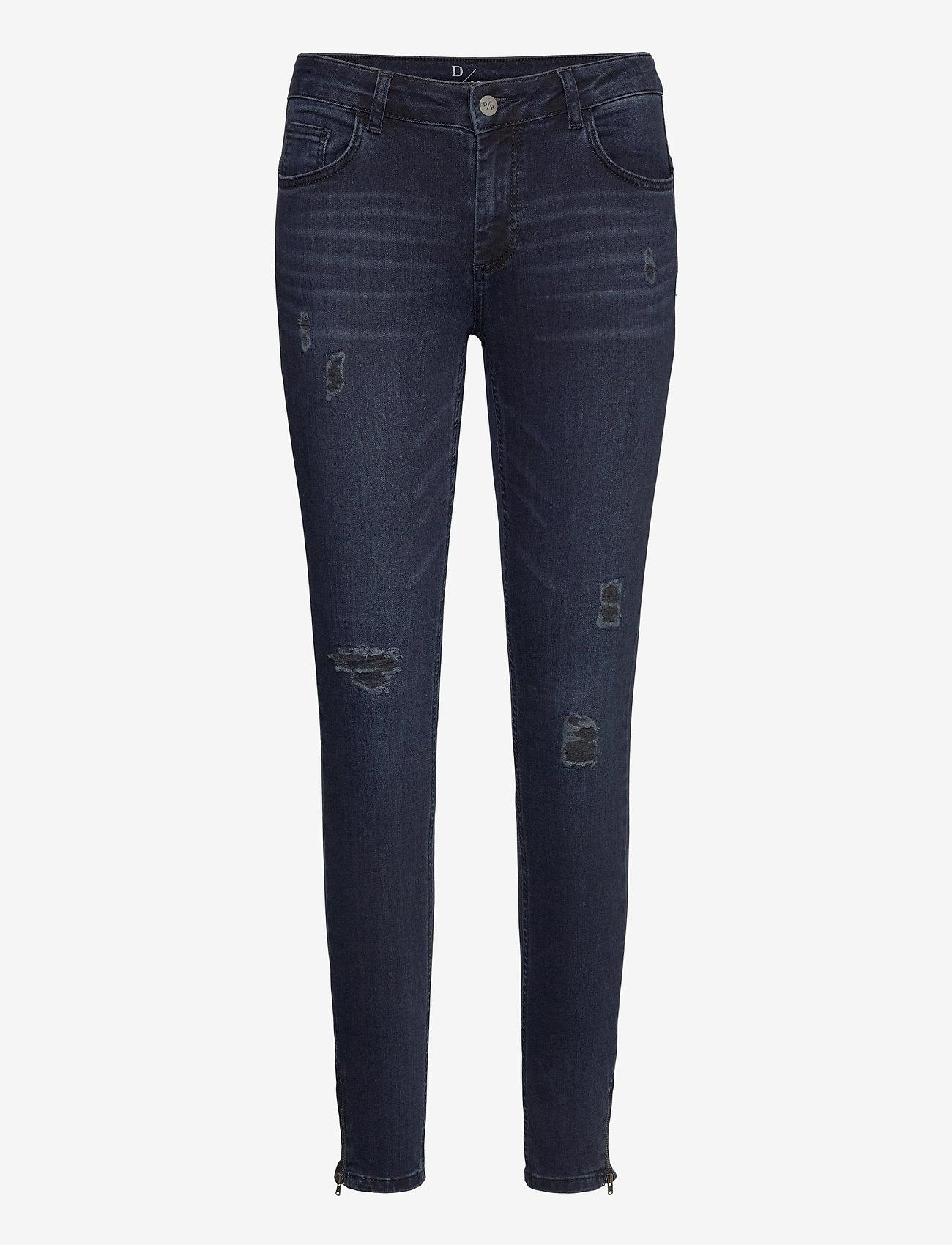 Denim Hunter - 40 THE CELINAZIP TORN CUSTOM - skinny jeans - dark blue wash - 0