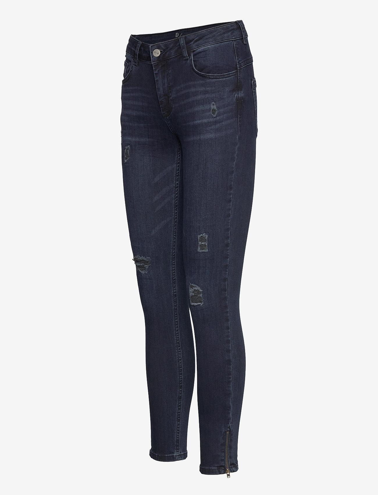 Denim Hunter - 40 THE CELINAZIP TORN CUSTOM - skinny jeans - dark blue wash - 2