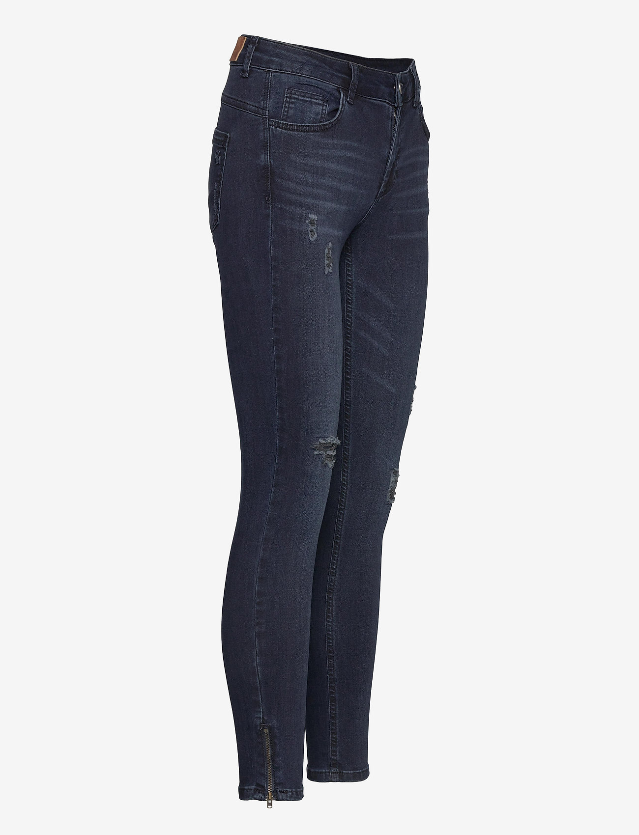 Denim Hunter - 40 THE CELINAZIP TORN CUSTOM - skinny jeans - dark blue wash - 3