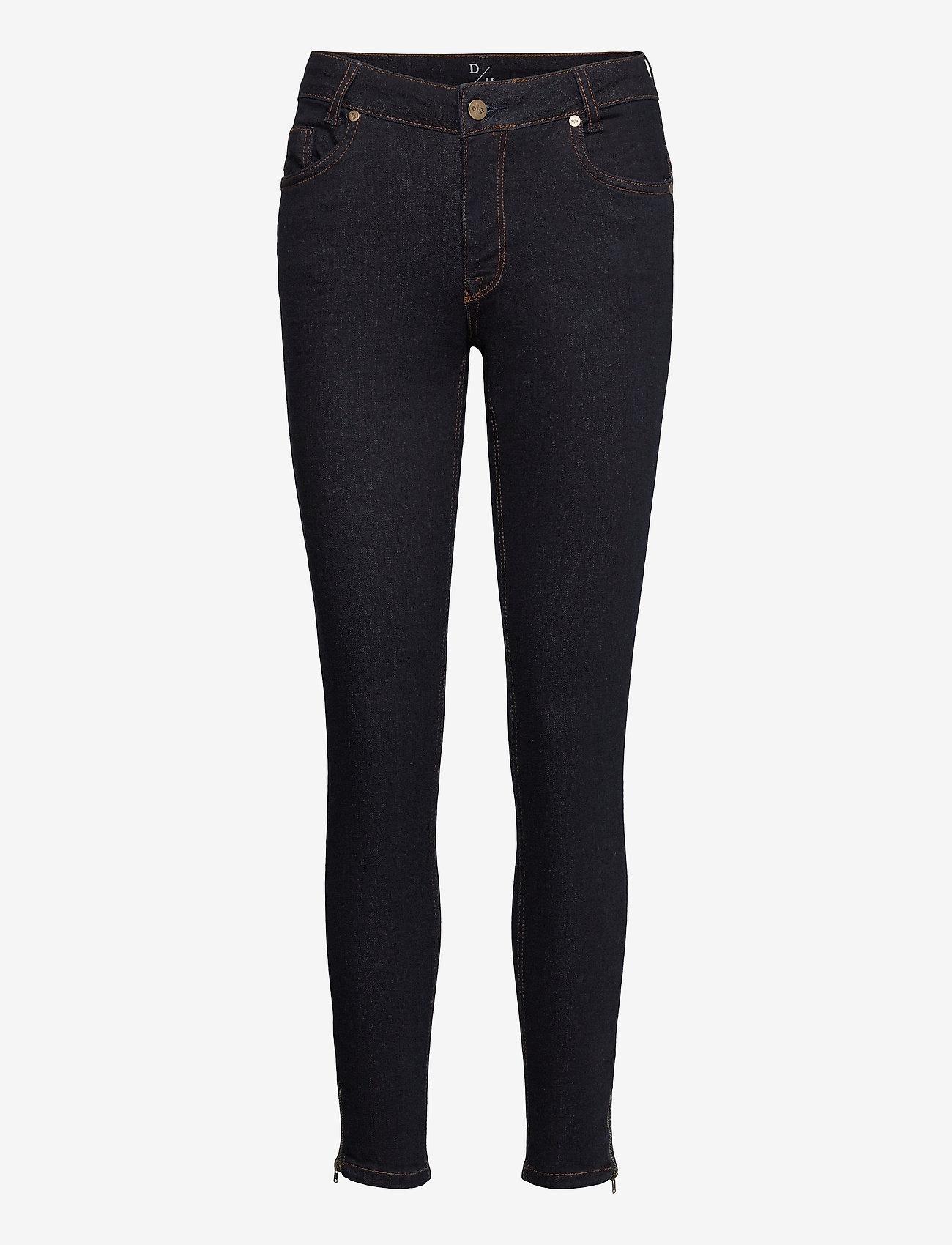 Denim Hunter - 31 THE CELINAZIP TENNA CUSTOM - slim jeans - dark blue un-wash - 0