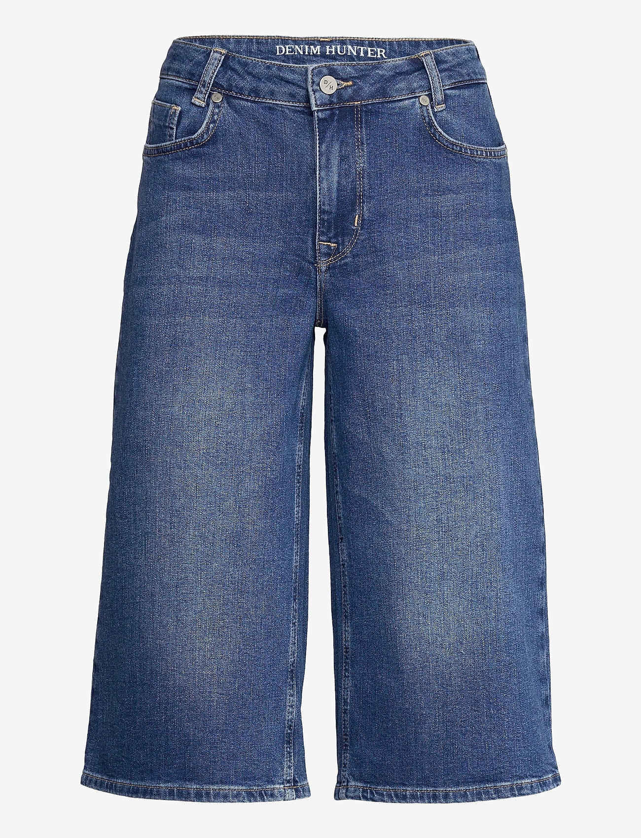Denim Hunter - DHMattie Long Shorts Custom - denimshorts - dark blue wash - 0