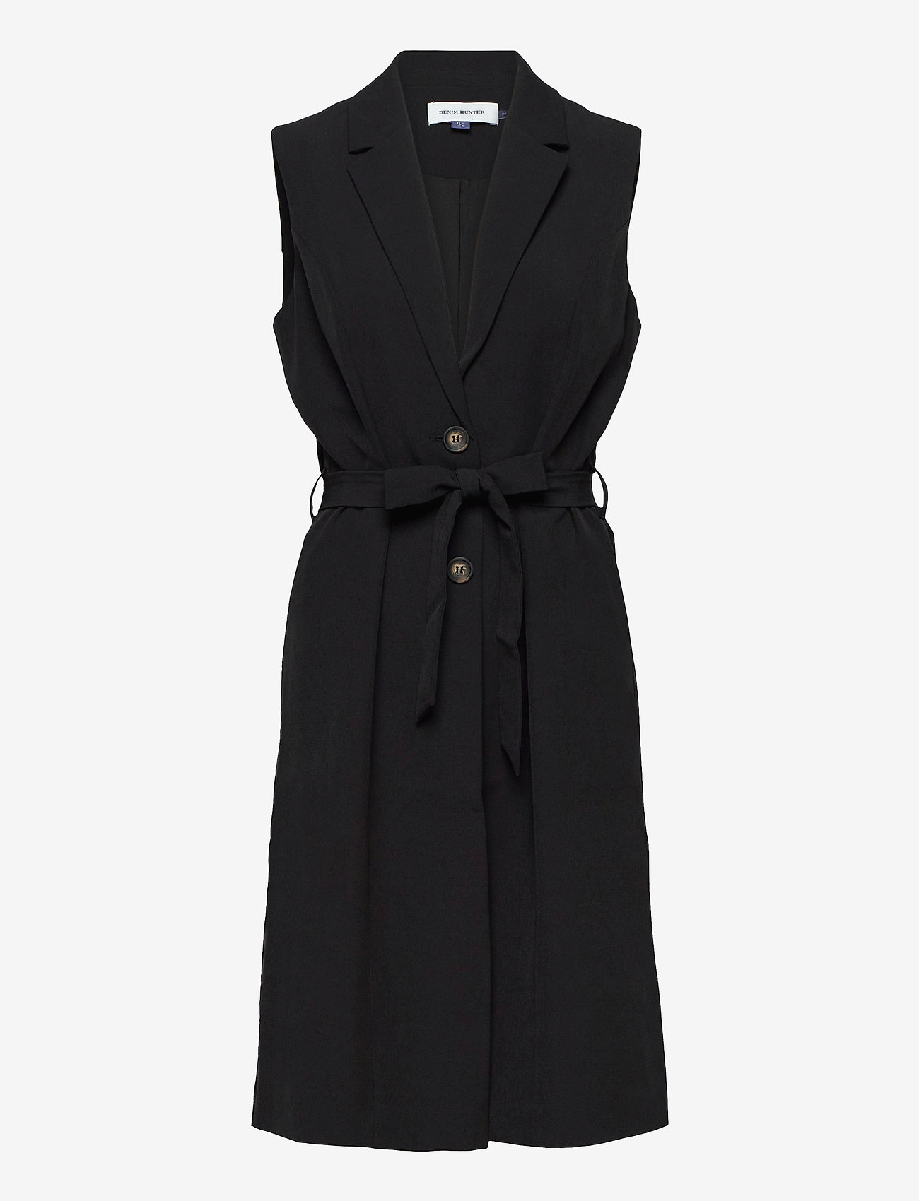 Denim Hunter - DHIda Waistcoat - puffer vests - black - 1