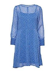 DHAgnes Dress - DAZZLING BLUE AOP