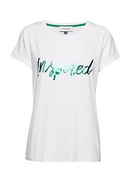 DHClea T-shirt - OPTICAL WHITE W. PARAKEET GREE