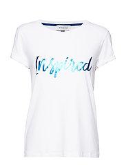 DHClea T-shirt - OPTICAL WHITE W. DAZZLING BLUE