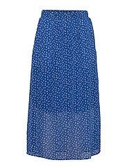 DHAgnes Long Skirt - DAZZLING BLUE AOP