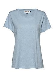 DHLuz O Neck Tee Slub Yarn Jersey - CASHMERE BLUE