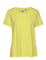 DHLuz O Neck Tee Slub Yarn Jersey - LEMON TONIC