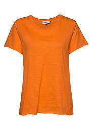 DHLuz O Neck Tee Slub Yarn Jersey - ORANGE CLOWN FISH
