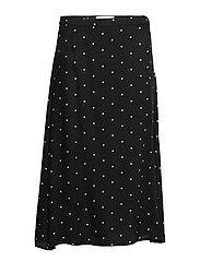 DHCarmen Skirt Light Woven - BLACK DOT PRINT