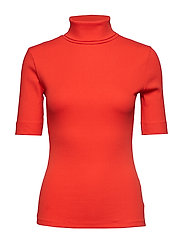 DHZoe Rollneck Blouse - FIESTA RED
