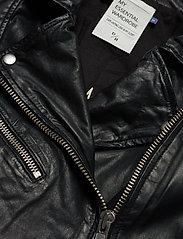 Denim Hunter - 02 THE LEATHER JACKET - skinnjackor - black - 3