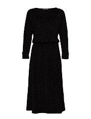 DHKick Batsleeve Dress - BLACK COLOUR LUREX
